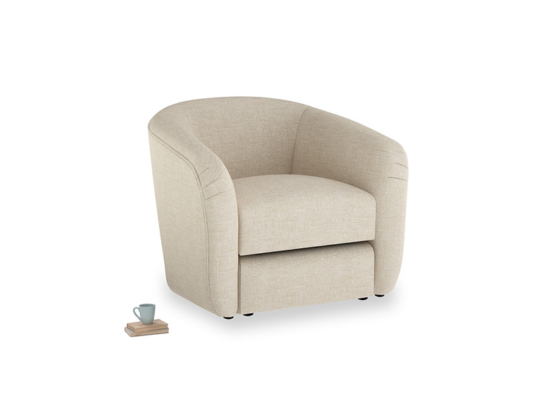 Tootsie Armchair in Flagstone clever woolly fabric