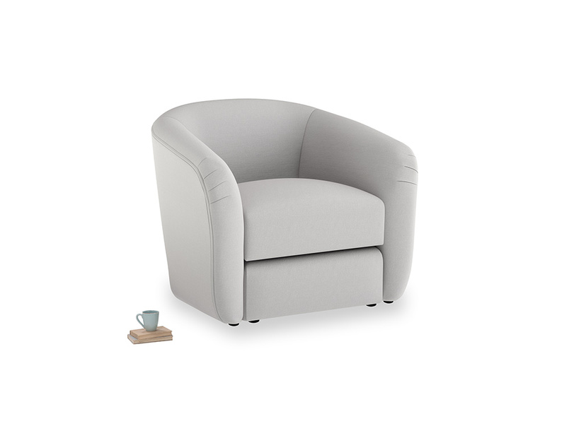 Tootsie Armchair in Flint brushed cotton