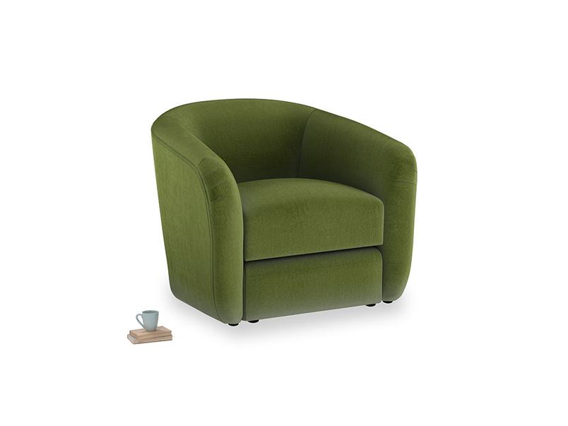 Tootsie Armchair in Good green Clever Deep Velvet