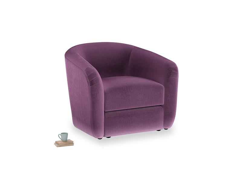 Tootsie Armchair in Grape clever velvet