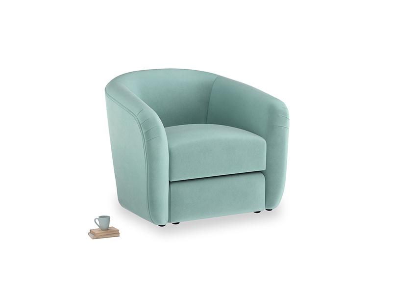 Tootsie Armchair in Greeny Blue Clever Deep Velvet