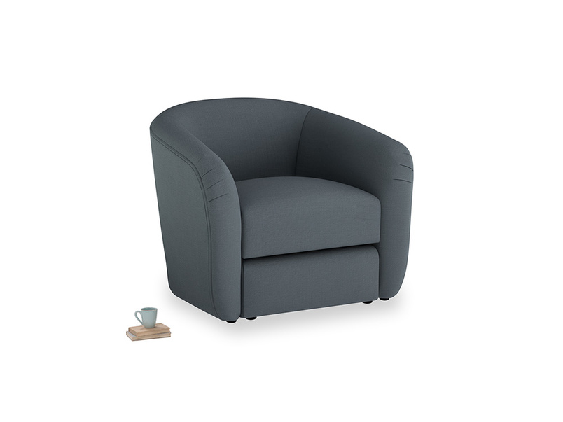 Tootsie Armchair in Lava grey clever linen