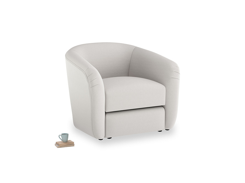 Tootsie Armchair in Lunar Grey washed cotton linen