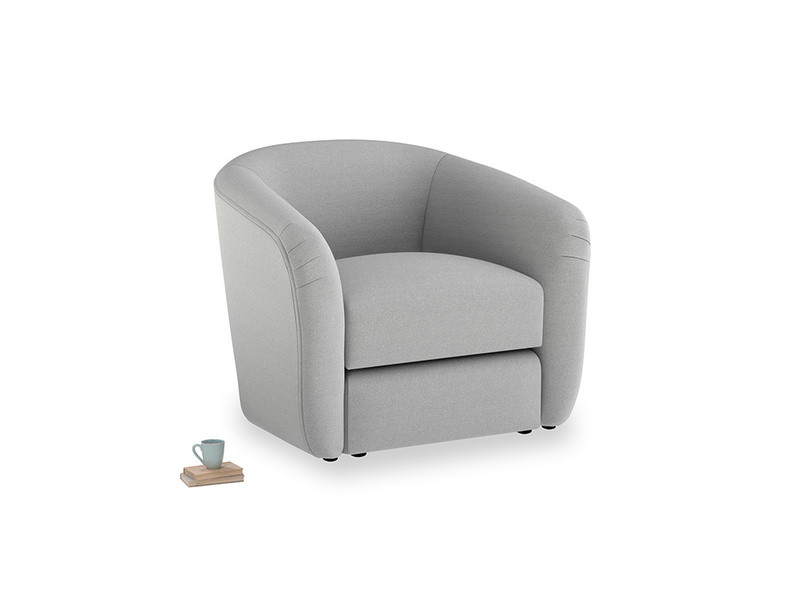 Tootsie Armchair in Magnesium washed cotton linen