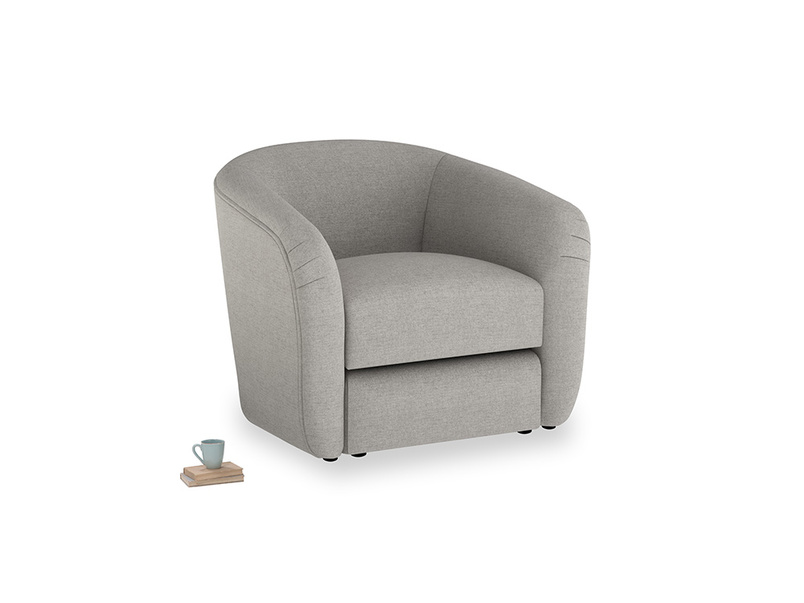 Tootsie Armchair in Marl grey clever woolly fabric