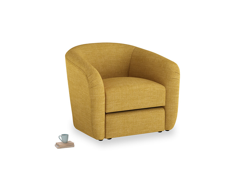 Tootsie Armchair in Mellow Yellow Clever Laundered Linen