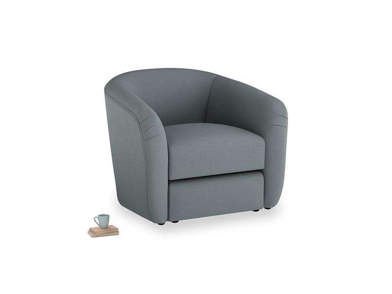 Tootsie Armchair in Meteor grey clever linen