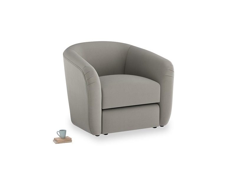 Tootsie Armchair in Monsoon grey clever cotton