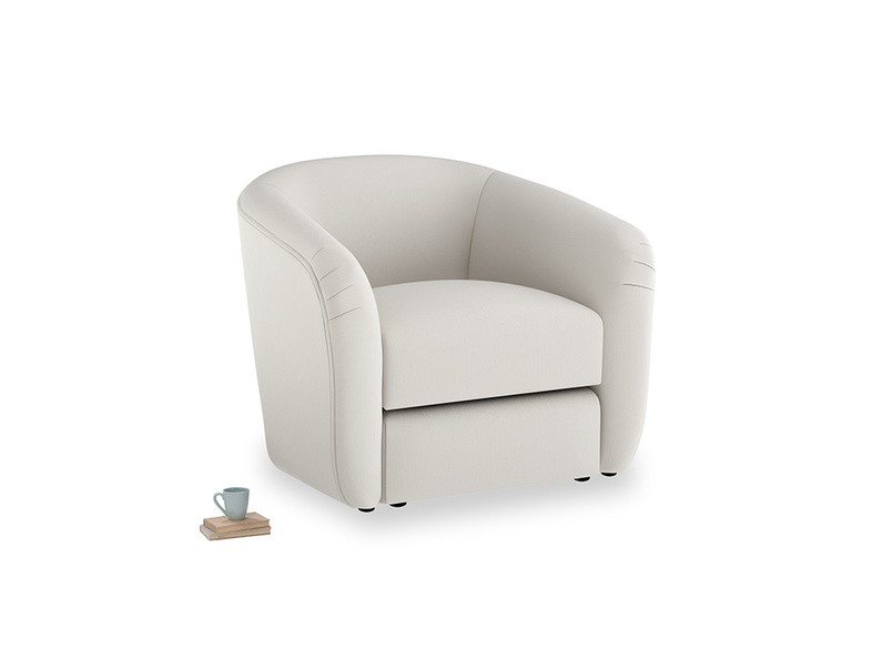 Tootsie Armchair in Moondust grey clever cotton