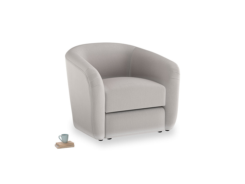 Tootsie Armchair in Mouse grey Clever Deep Velvet