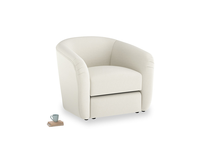 Tootsie Armchair in Oat brushed cotton