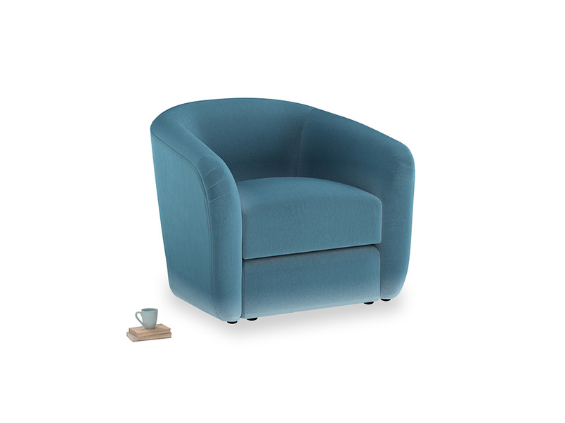 Tootsie Armchair in Old blue Clever Deep Velvet