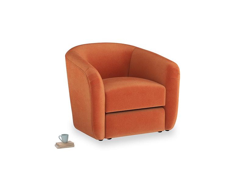 Tootsie Armchair in Old Orange Clever Deep Velvet
