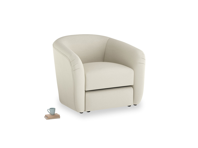 Tootsie Armchair in Pale rope clever linen