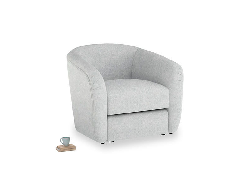 Tootsie Armchair in Pebble vintage linen