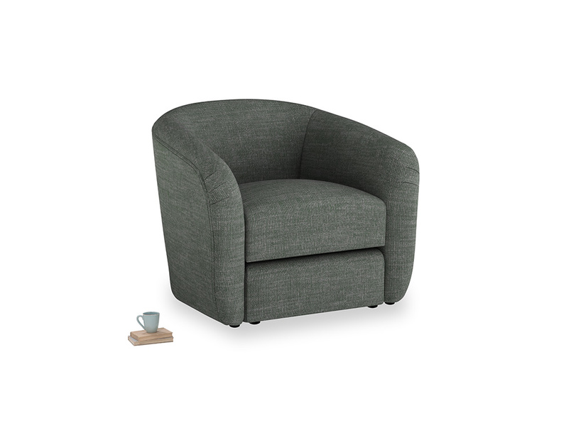 Tootsie Armchair in Pencil Grey Clever Laundered Linen