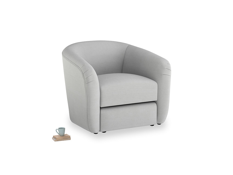 Tootsie Armchair in Pewter Clever Softie