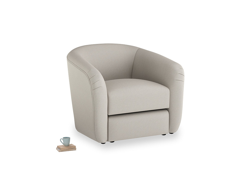 Tootsie Armchair in Sailcloth grey Clever Woolly Fabric