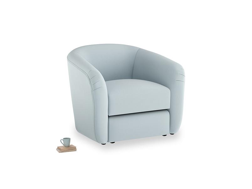 Tootsie Armchair in Scandi blue clever cotton