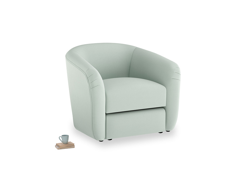 Tootsie Armchair in Sea surf clever cotton
