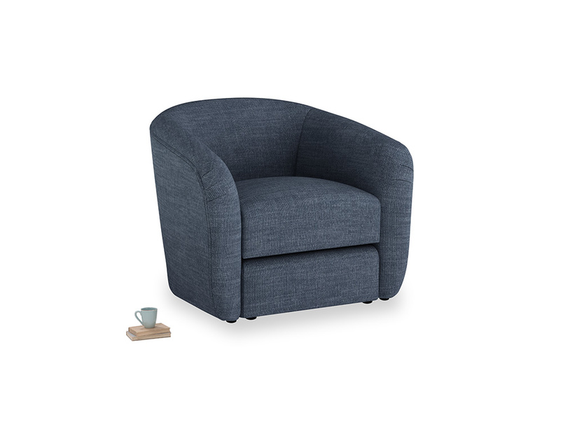 Tootsie Armchair in Selvedge Blue Clever Laundered Linen