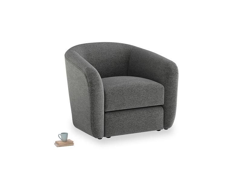 Tootsie Armchair in Shadow Grey wool