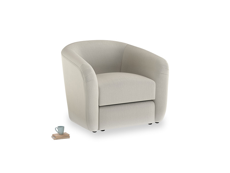 Tootsie Armchair in Smoky Grey clever velvet
