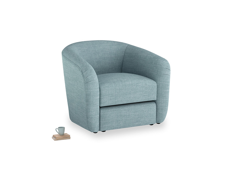 Tootsie Armchair in Soft Blue Clever Laundered Linen