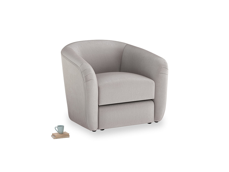 Tootsie Armchair in Soothing grey vintage velvet