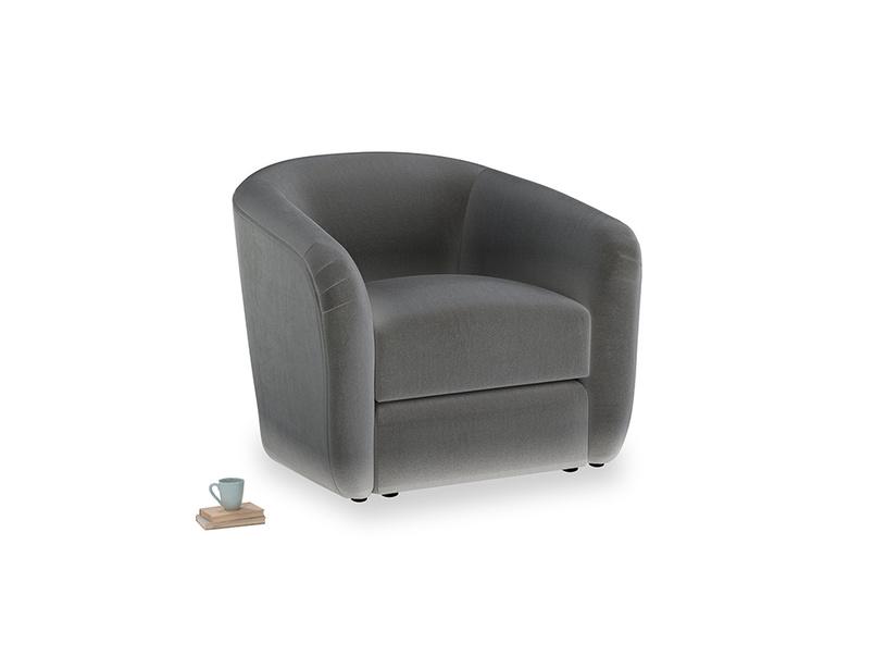 Tootsie Armchair in Steel clever velvet