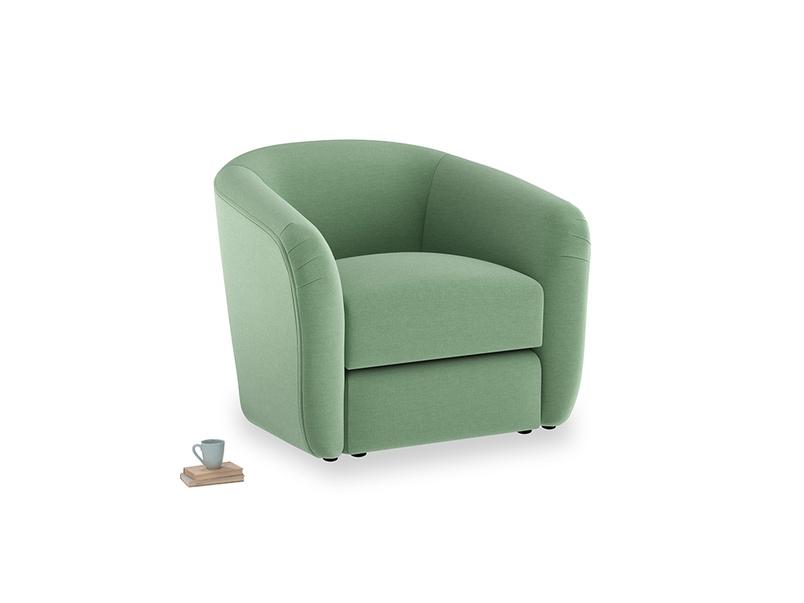 Tootsie Armchair in Thyme Green Vintage Linen