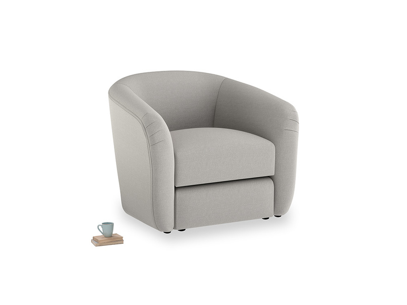 Tootsie Armchair in Wolf brushed cotton