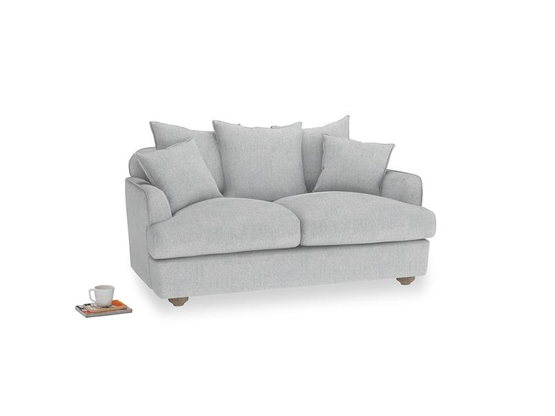 Small Smooch Sofa in Pebble vintage linen