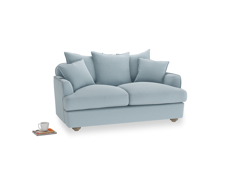 Small Smooch Sofa in Soothing blue washed cotton linen