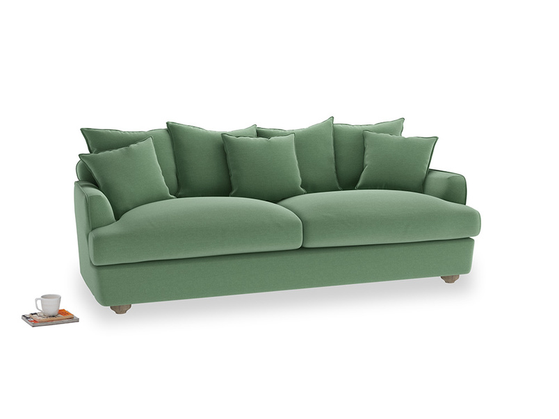 Large Smooch Sofa in Thyme Green Vintage Linen
