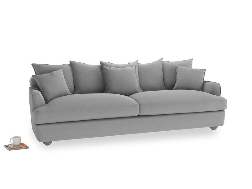 Extra large Smooch Sofa in Magnesium washed cotton linen