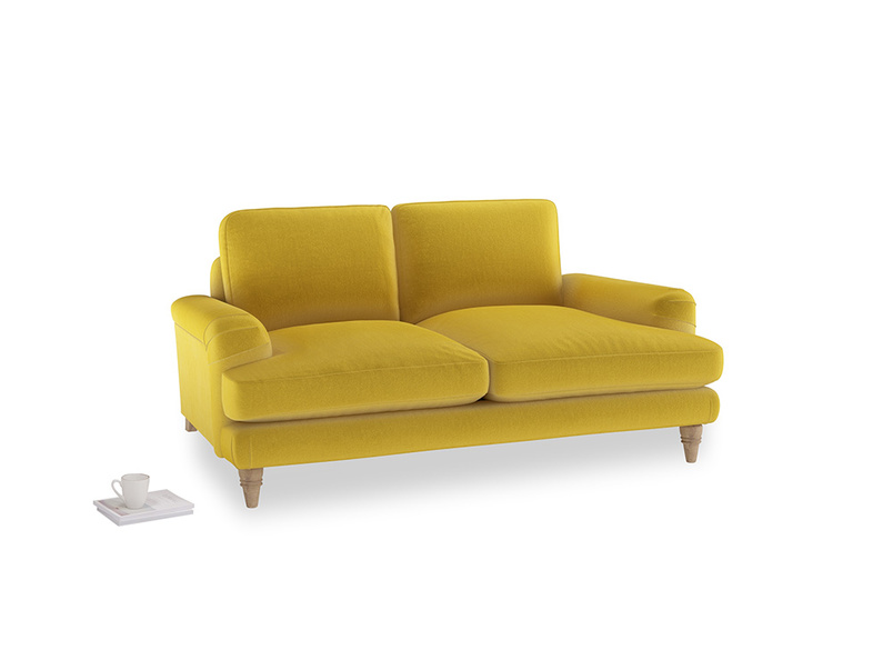 Small Cinema Sofa in Bumblebee clever velvet