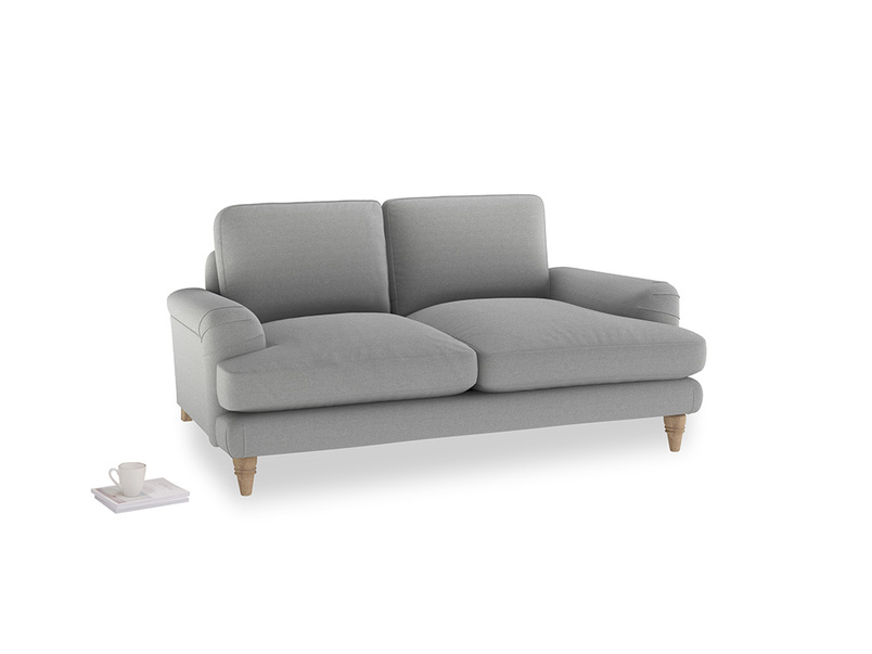 Small Cinema Sofa in Magnesium washed cotton linen