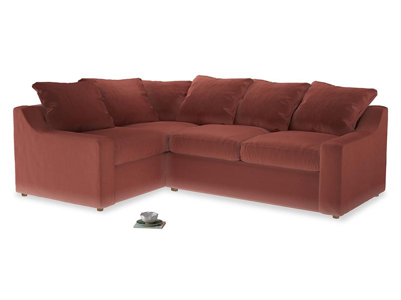 Large Left Hand Cloud Corner Sofa in Dusty Cinnamon Clever Velvet