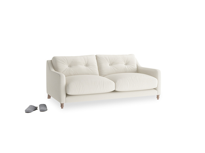 Small Slim Jim Sofa in Chalky White Clever Softie