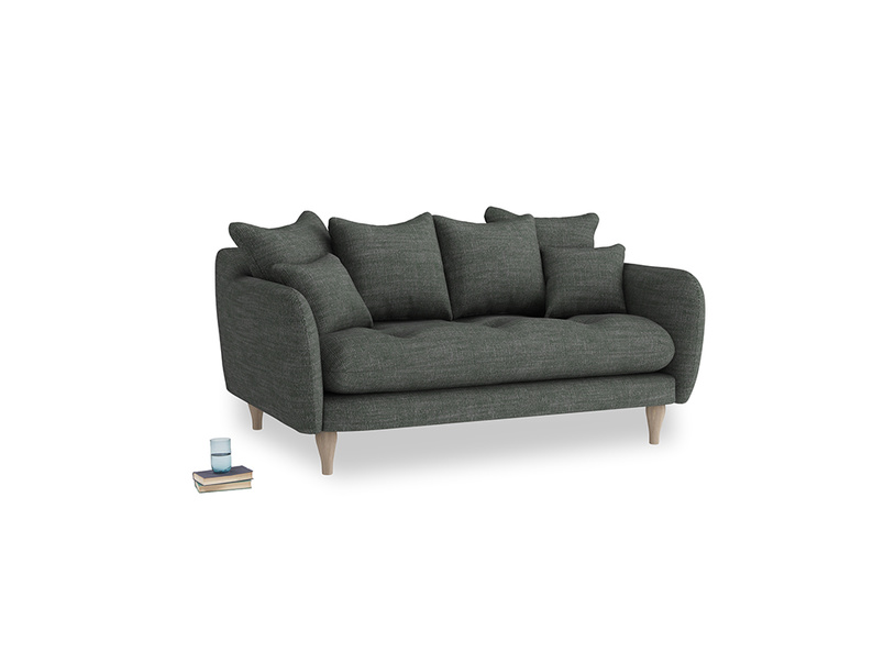 Small Skinny Minny Sofa in Pencil Grey Clever Laundered Linen