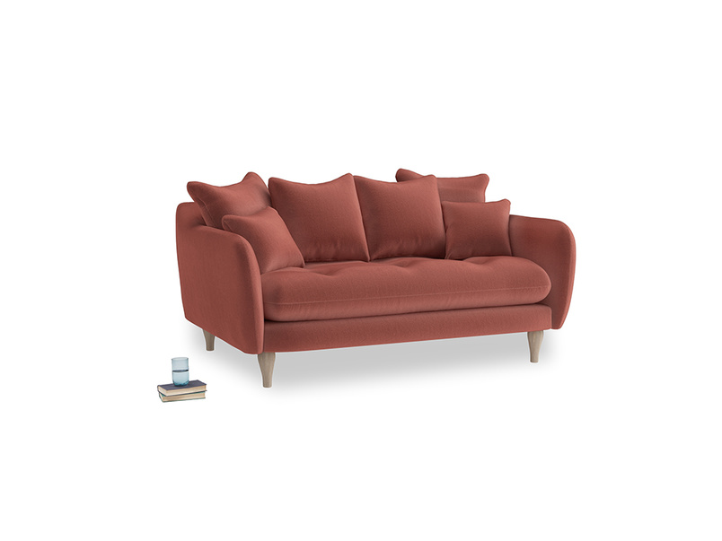 Small Skinny Minny Sofa in Dusty Cinnamon Clever Velvet