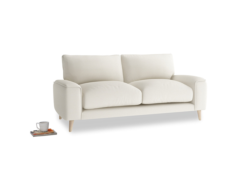 Small Strudel Sofa in Chalky White Clever Softie