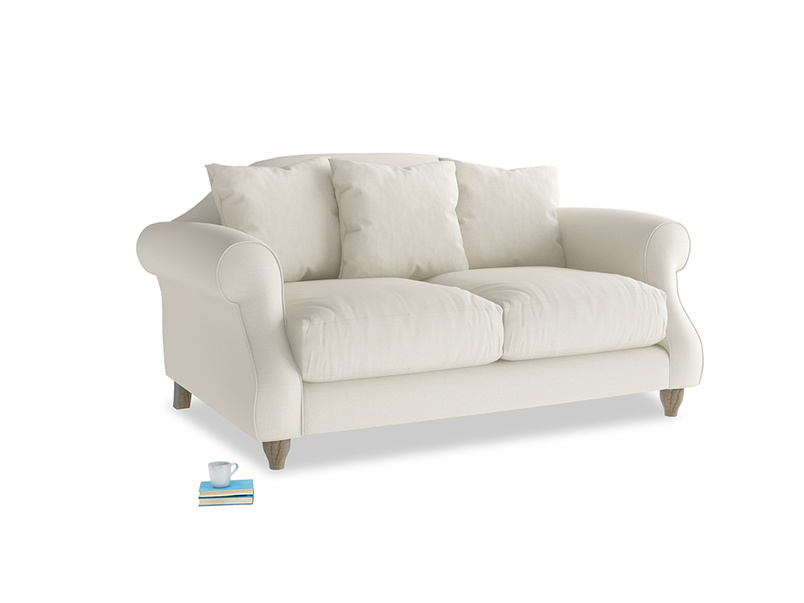 Small Sloucher Sofa in Chalky White Clever Softie