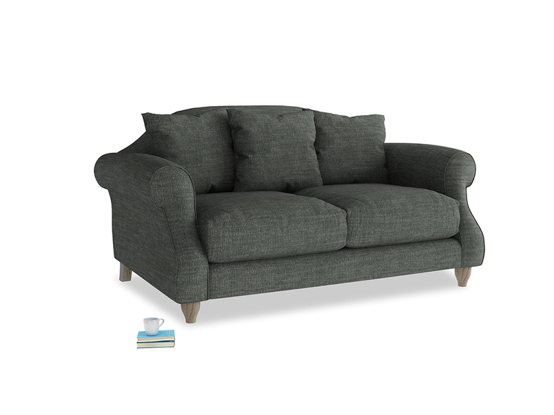 Small Sloucher Sofa in Pencil Grey Clever Laundered Linen