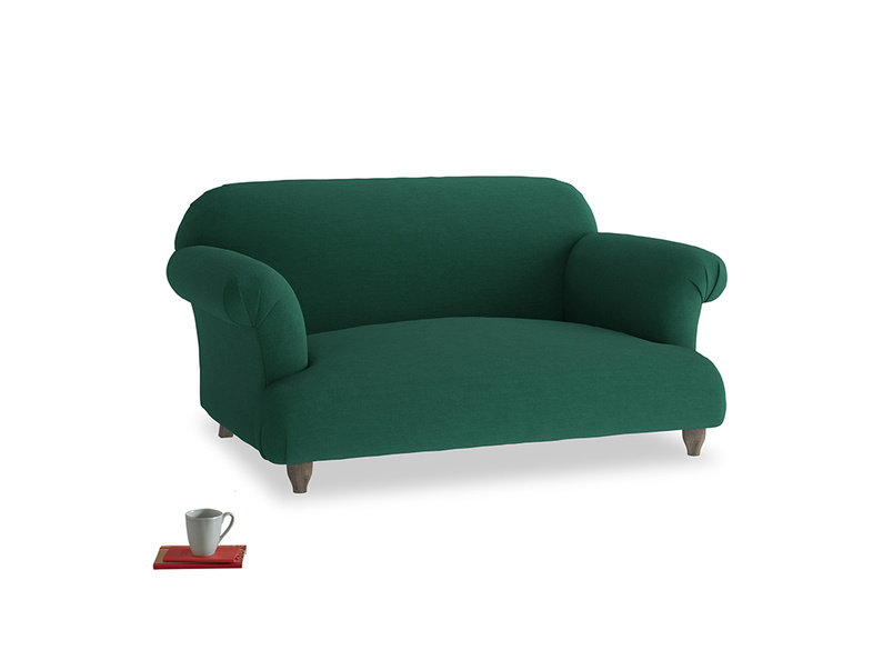 Small Soufflé Sofa in Cypress Green Vintage Linen