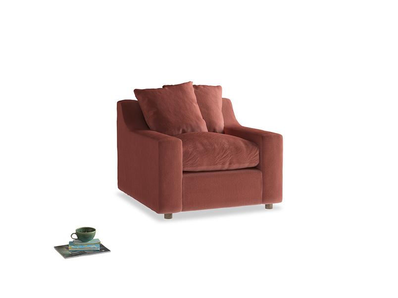 Cloud Armchair in Dusty Cinnamon Clever Velvet