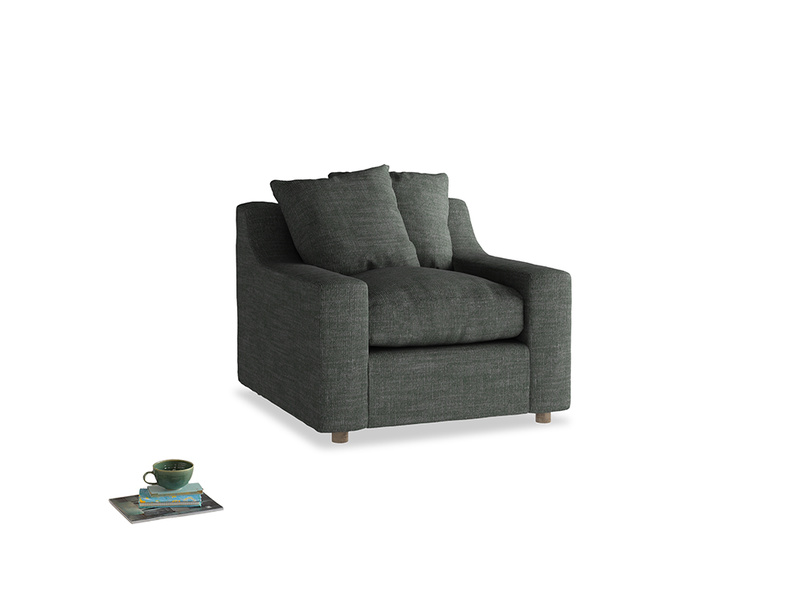 Cloud Armchair in Pencil Grey Clever Laundered Linen