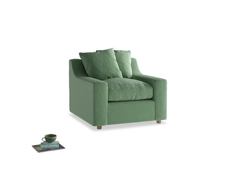 Cloud Armchair in Thyme Green Vintage Linen