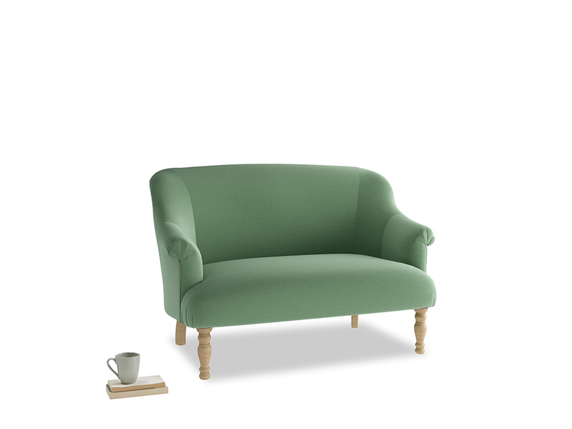 Small Sweetie Sofa in Thyme Green Vintage Linen